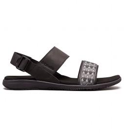 Columbia Solana black leather sandal