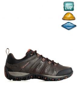 Columbia Zapatos de piel impermeables Ruckel Ridge marrón
