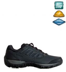 Columbia Zapatos de piel impermeables Ruckel Ridge negro