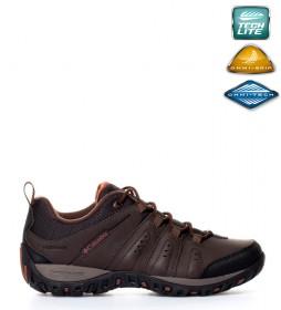 Columbia Zapatos de piel impermeables Woodburn II marrón