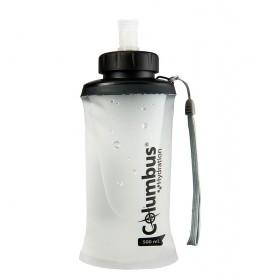 COLUMBUS Soft Flask 500 hydration bottle white, black -500ml / 50g-
