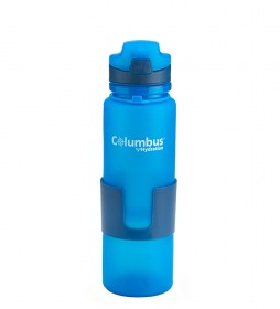COLUMBUS Botella flexible Aqua 650 azul/ 650ml / 200 g