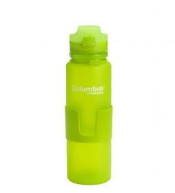 COLUMBUS Botella flexible Aqua 650 verde / 650ml / 200 g