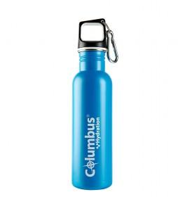 COLUMBUS Aqua 750 stainless steel bottle blue -750ml / 173 g-.