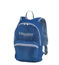 COLUMBUS Folding backpack Daypack blue, grey / 15L / 410g / 39x22x18 cm