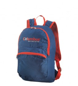 COLUMBUS Mochila plegable Daypack azul, naranja / 15L / 410g / 39x22x18 cm