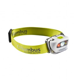 COLUMBUS Linterna frontal CF2 verde / 165 lumens / 60g s.b / 95g c.b / IPX 5