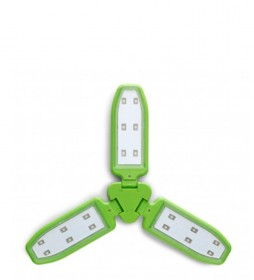 COLUMBUS Lámpara solar Elara verde / 100 lumens / 168 g