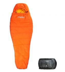 COLUMBUS Hekla sleeping bag 400 orange / 960 g / 210x75/48 cm / TªC 8ºC / TªL 3.5ºC / TªE -10.3ºC