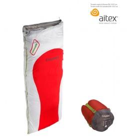 COLUMBUS Sleeping bag Auckland 200 white, red / 1,300 Kg / 210x80 cm / TªC 5.5ºC / TªL 0.6ºC / TªE -14.4ºC