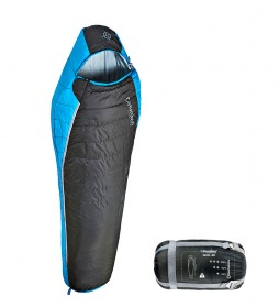 COLUMBUS Saco de dormir Lanin 60 negro / 0,800Kg / 210x80/50cm / TªC 12.9ºC / TªL 9.2ºC / TªE -2.2ºC