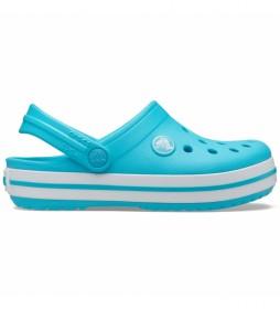 Zuecos Crocband Clog K azul turquesa