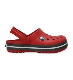 Zuecos Crocband Clog K rojo