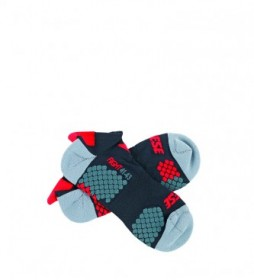 Dainese Ankle Socks Core Footie Sock black, turquoise, red