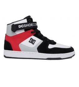 Zapatillas de piel Pensford negro, gris, rojo