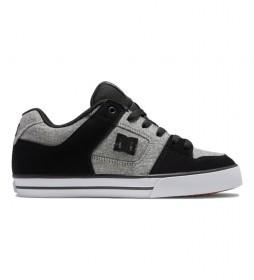 Zapatillas de piel Pure negro, gris