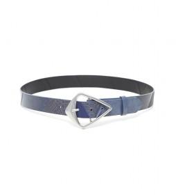 Cinturón Efecto Piel Patch azul