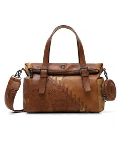 Bolso Mandala Monedero marrón -29.5x13.5x20.5cm-