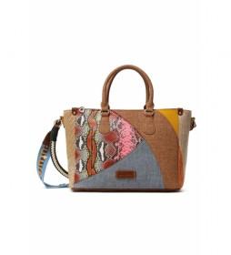 Bolso Mano Mosaico multicolor -33x13,2x23,3cm-