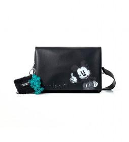 Bolso Mickey Dortmund Flap negro - 27.3x3x17.3cm -