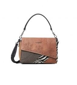 Bolso Mona Phuket marrón -29.7x27.2x41.3cm-