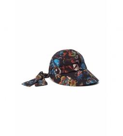 Gorro con Estampado Tropicuban negro, multicolor