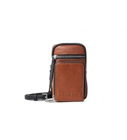 Monedero Embossed Half Dafne marrón -10.2x17x1.5cm-