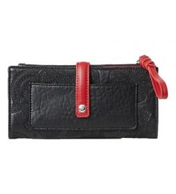 Monedero Deja Vu negro -19.5x9.5x1.5cm-