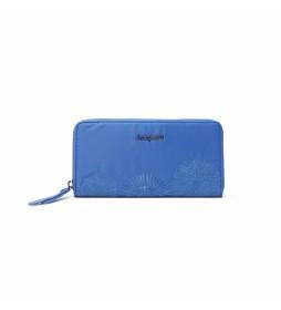 Monedero Mandarala Fiona azul -20,2x2x10cm-