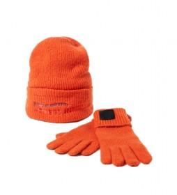 Pack de Gorro y Guantes Happy Bag naranja