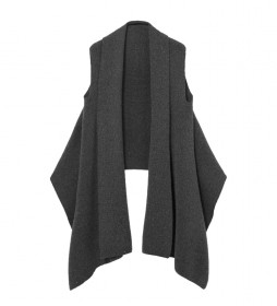 Poncho Mini Sequins Twisted gris