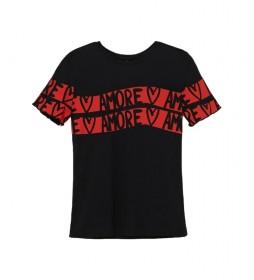 Camiseta Amore negro