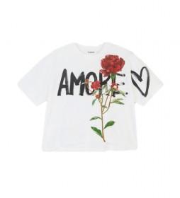 Camiseta Celidonia blanco