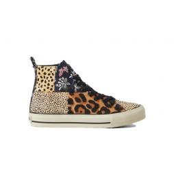 Zapatillas de piel Beta animal print