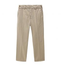 Pantalón Slim Fit Work 872 beige