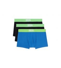 Pack de 3 boxers Damien Living azul, azul marino, negro