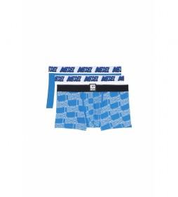 Pack de 3 boxers Damien azul, blanco
