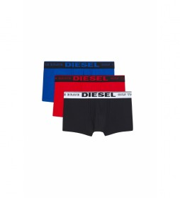 Pack de 3 boxers Damien negro, rojo, azul