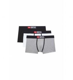 Pack de 3 boxers Damien negro, gris, blanco