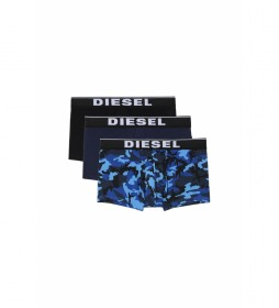 Pack de 3 boxers Damien azul marino, negro, camuflaje