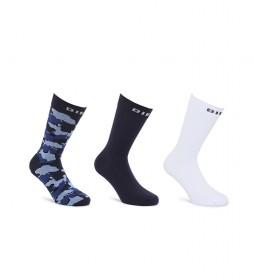 Pack de 3 Calcetines SKM-RAY-Threepack azul, blanco