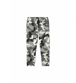 Pantalones Peter gris, negro camuflaje