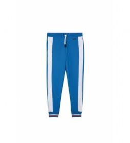 Pantalones Peter azul, blanco