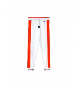 Pantalones Peter blanco, naranja