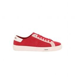 Zapatillas de piel Mydori  rojo