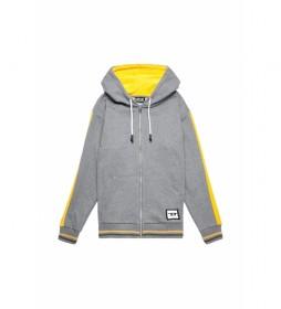 Sudaderas chaquetas Brandon gris, amarillo