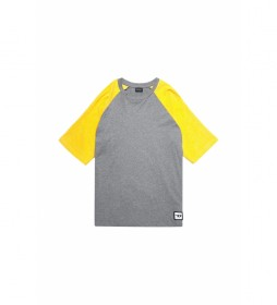 Camiseta Base gris, amarillo