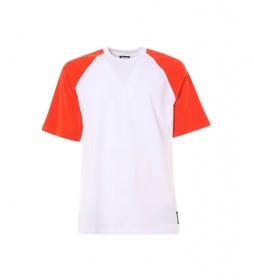 Camiseta Base blanco, naranja