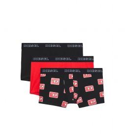 Pack de 3 Bóxers UMBX-Damienthreepack negro, rojo