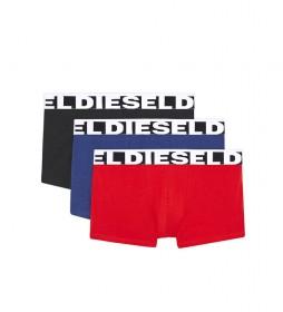 Pack de 3 Bóxers UMBX-Shawnthreepack azul, negro, rojo
